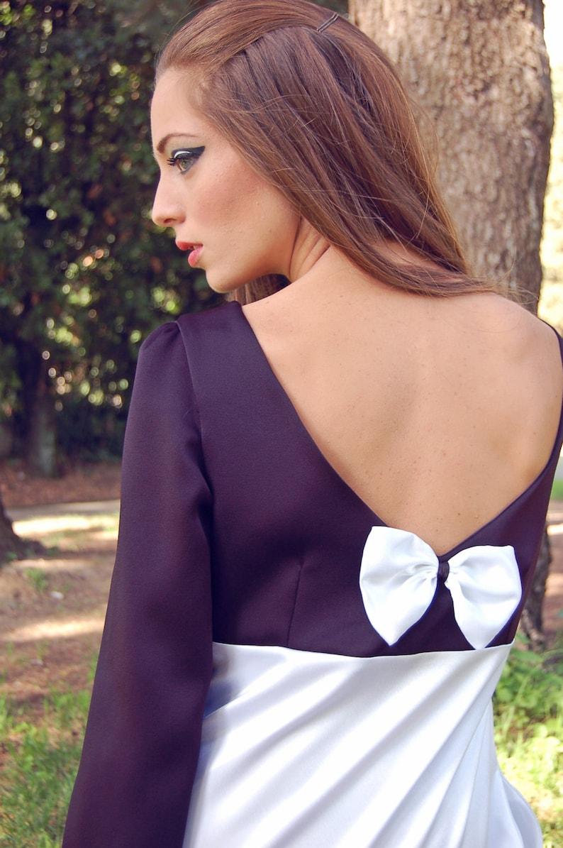 Abito Bianco e Nero Corto Elegante Stile Anni 60 Vestito  deb565b6fd5