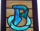 Monogram Letter Stained Glass Panel