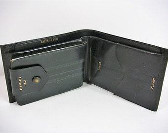 Vintage Men's Black Wallet Leather Black Men's Wallet