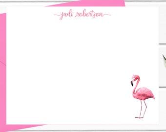 Personal Stationery Pink Flamingo Flamingo Thank You Notes Coastal