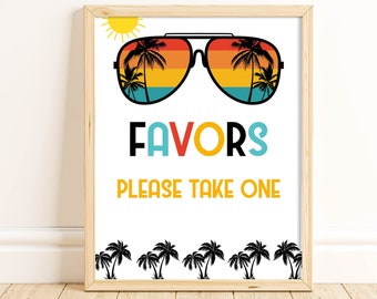 One Cool Dude Favor Sign, Two Cool, Birthday Party Sign, 1st Birthday, 2nd Birthday, Sunglasses, Boy Birthday, Favor Table Sign, ONEC TWOC