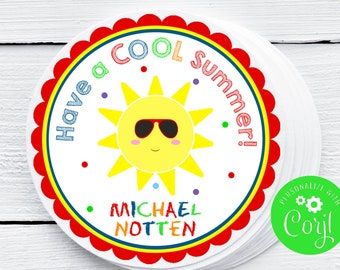 Printable Have a COOL Summer Tag, School Tag, End of the School Year, End of the Year, Corjl, Gift for Class, Instant, Printable Tags