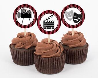 Movie Cupcake Topper Etsy