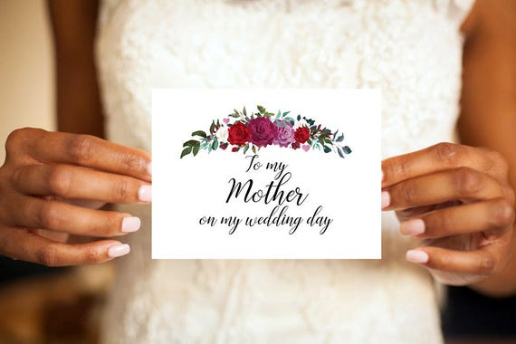 To my mother on my wedding day card mother of the bride card mom il570xn m4hsunfo