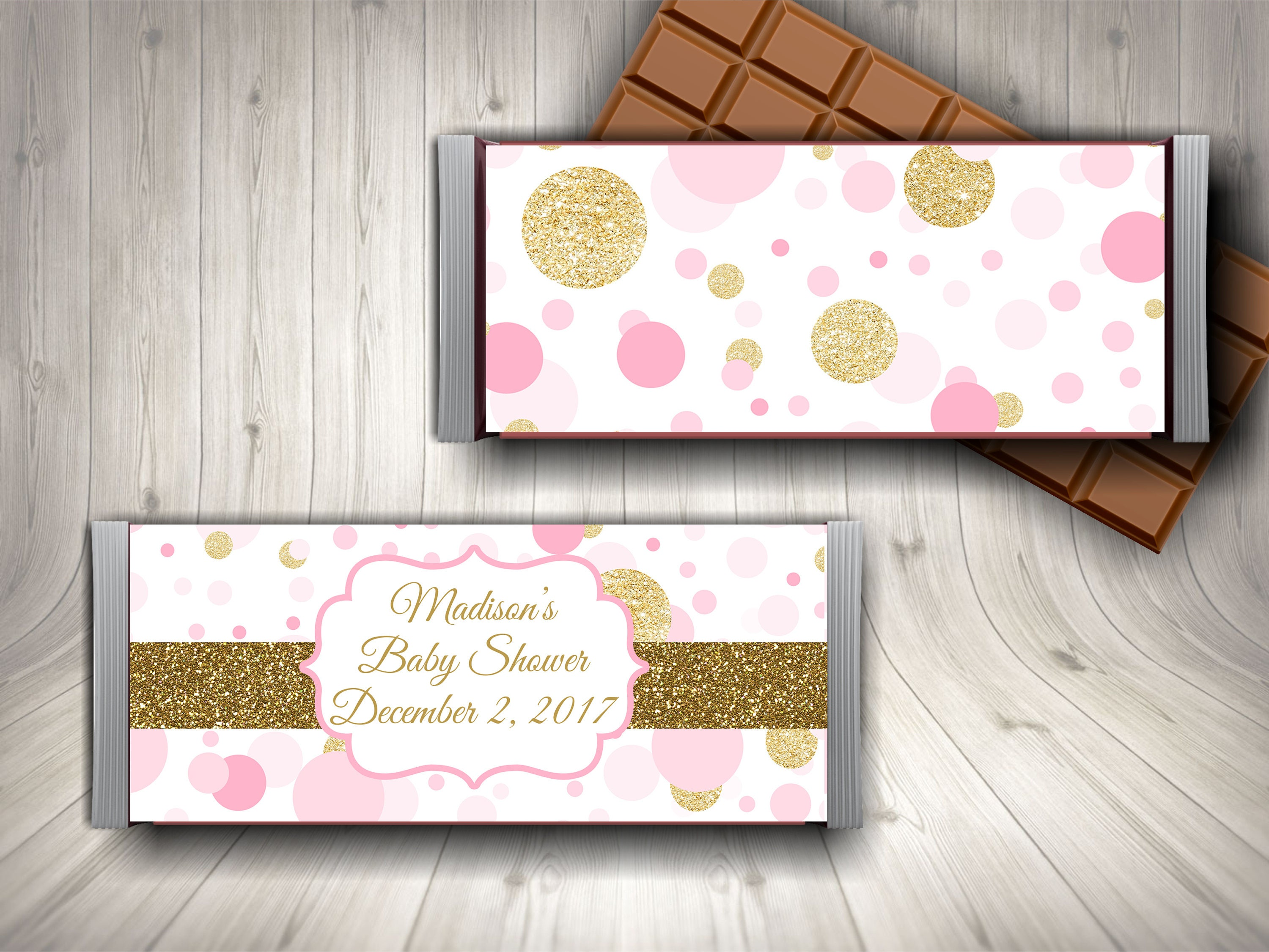 Chocolate Bar Wrapper Candy Bar Wrapper Baby Shower Candy