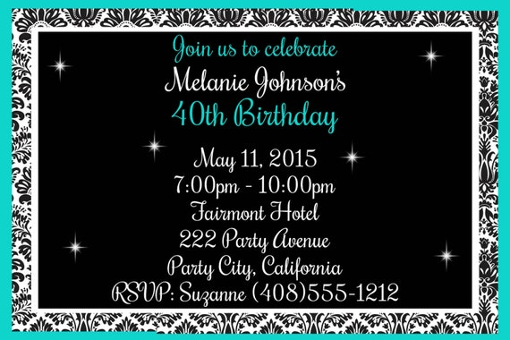 40th Birthday Invitation Surprise Party Big 40