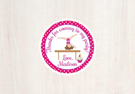 Cupcakes And Cartwheels Favor Tag Gymnastics Party Birthday Girls