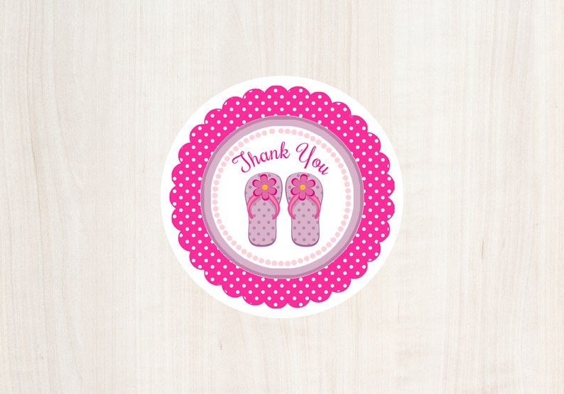 44606f106 Printable Summer Gift Tags Flip Flops Tag Thank You Tag
