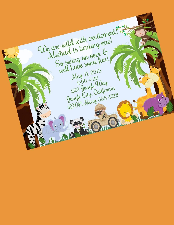 Dschungel-Einladung Dschungel-Baby-Dusche | Etsy