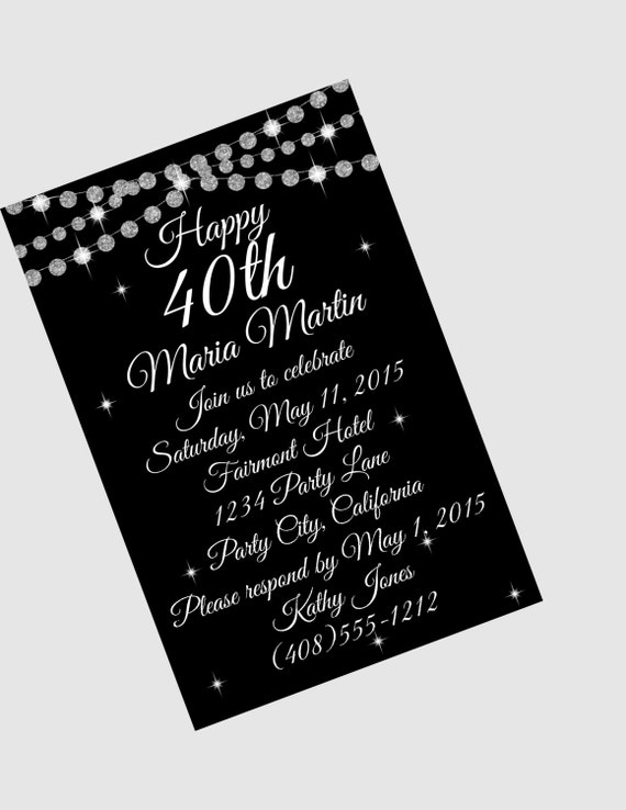 40th Birthday Invitation Surprise