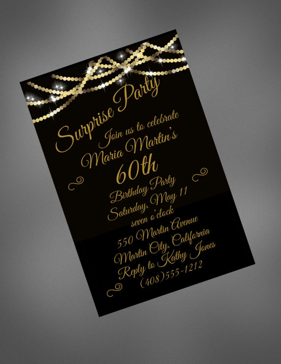 60th Birthday Invitation 60th Surprise Birthday Invite Printable