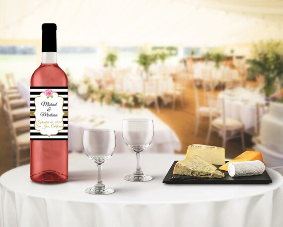 Wedding Wine Labels Black And White Wedding Wine Labels Wedding