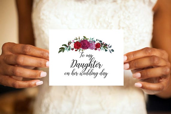 To My Daughter To My Daughter On Her Wedding Day Wedding Card