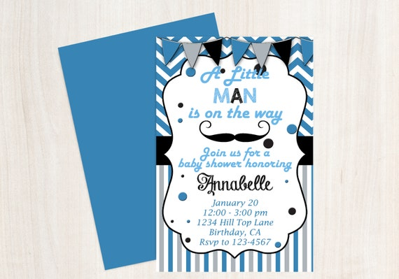 mustache baby shower little man baby shower mustache invitation
