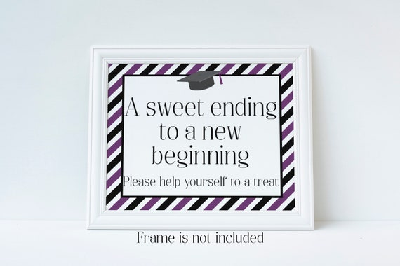 image relating to Printable Graduation Decorations named A Cute Finishing Toward A Fresh Setting up, Commencement Bash Signal