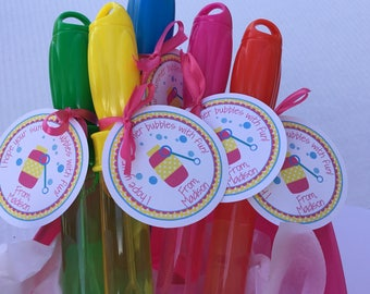 Bubble Tags, Summer Vacation Tag, Blow Bubbles Tag, Bubbles, Bubble Favor Tag, End of School, Favor Tag, End of school year tags for bubbles