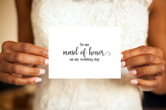 Maid Of Honor Card Maid Of Honor Thank You Card Bridal Party Card