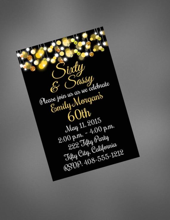 60th Birthday Invitation Surprise Party