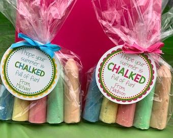 Chalk Tag, Chalk Favor Tag, School Tag, End of School Favor Tag, Summer Tag, End of Year Favor Tag, Summer Vacation, Chalk School Tag