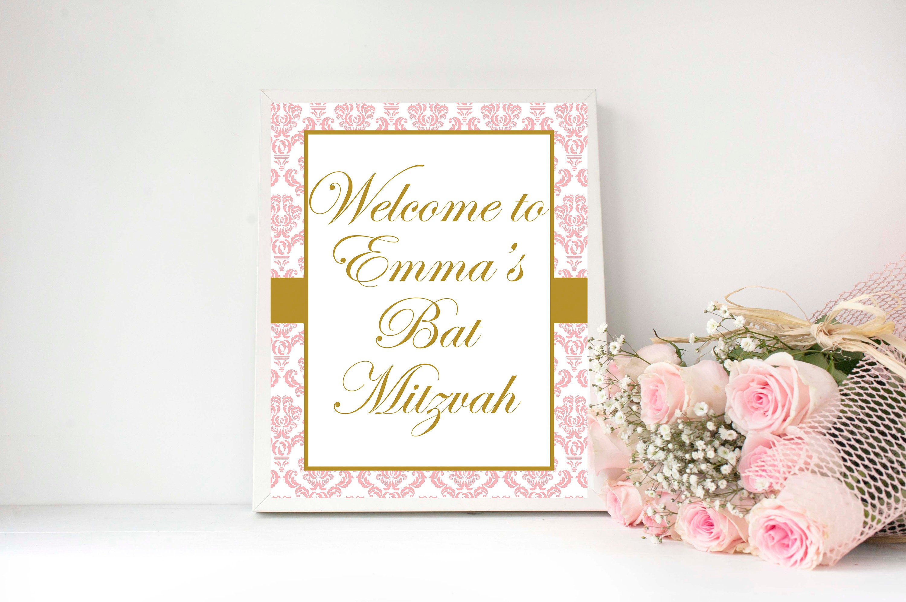 Bat Mitzvah Bat Mitzvah Decoration Bat Mitzvah Welcome Sign Etsy
