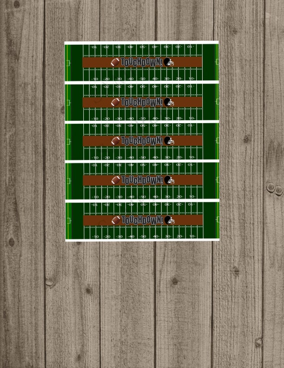 Football Water Bottle Labels Instant Download Sports