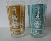 Tall Drinking Glasses Vintage