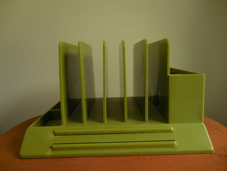 Klein Grenen Bureau.Vintage Max Klein Desk Office Storage Avocado Green