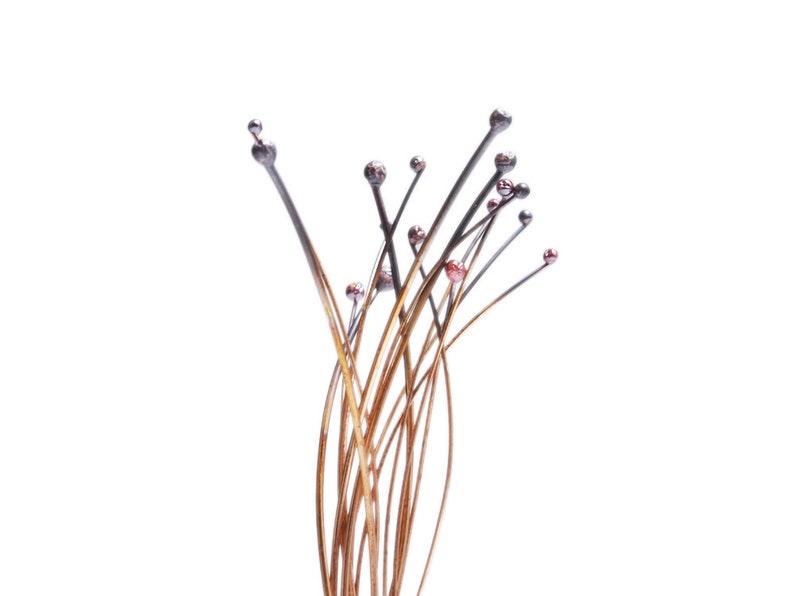 25 50 & 100ct Lots of Handmade Solid Copper Headpins / image 0