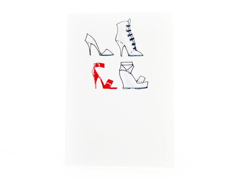 Handmade Miniature Greeting Card  Shoes  3.75 x 2.75  Comes image 0