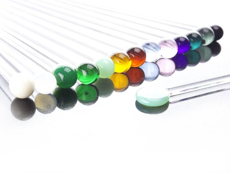 Reusable Handmade Multi Color Glass Chopsticks / Hair Sticks image 0