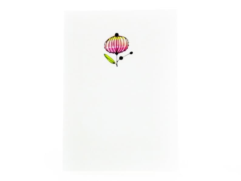 Handmade Miniature Greeting Card  Small Flower  3.75 x 2.75 image 0