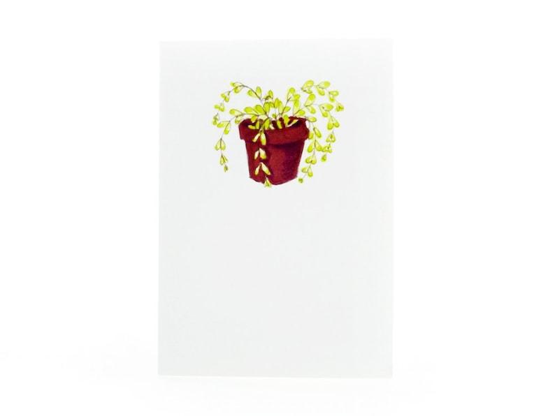 Handmade Miniature Greeting Card  House Plant  3.75 x 2.75  image 0