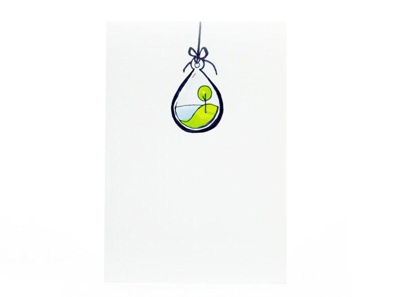 Handmade Miniature Greeting Card  Island in a Water Balloon  image 0