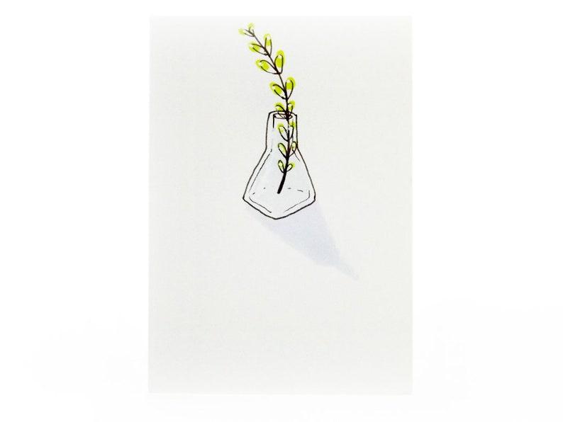Handmade Miniature Greeting Card  Decorative Bottle  3.75 x image 0
