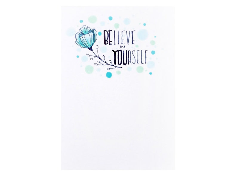 Handmade Miniature Greeting Card  Believe in Your Self  3.75 image 0