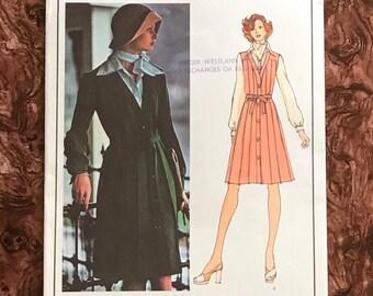 bust 36 Wide-leg Pants and Sash * Size 14 UNCUT * Vogue Paris Original Pattern 1216  by Designer: JEAN PATOU Misses/' Tunic Top