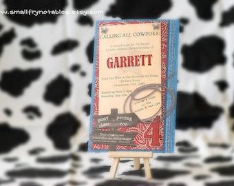 Cowboy Rodeo Party Custom Printable Invitation By Smallfrynotables