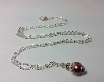 Brown Pearl Bridesmaid Necklace
