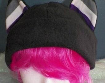 X-Large Cat Ear Fleece Hat Asexual Ace Pride