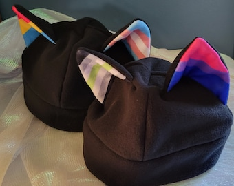 X-Large Mix and Match Cat Ear Fleece Pride Hat - More Flags In Listing