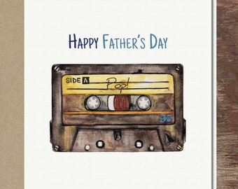 Mix Tape Father's Day Card Cassette Tape Card Mixed Tape