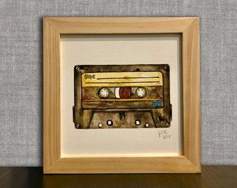 Cassette Tape Mix Tape Art Tape Player Art Cassette Painting