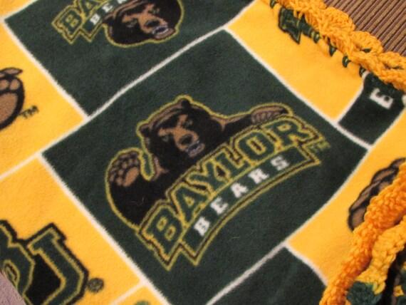 BU Baylor University Bears College Fleece Throw Blanket With Etsy Unique Baylor Throw Blanket