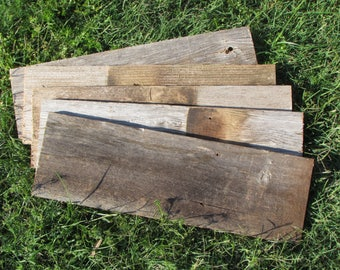 DIY   Do It Yourself!   Sign boards for anyone!  ON SALE! Reclaimed Old Fence Wood - 10 Boards - 18 Inch Length -Weathered Barn Wood