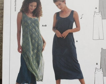 782f59a7 Size 10 12 14 16 18 20 Burda Easy Sewing Pattern 2943 Summer Sheath Dress  or Over Dress with Scoop Neckline