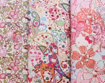 3 pcs of Liberty fabrics - Hello Kitty Liberty - 2012 - 5