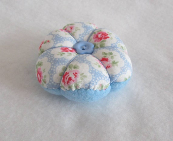 MINI fabric flower style pin cushion Some cath kidston Ideal Gift //Xmas Gift