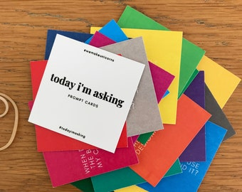 Today I'm Asking Myself, thoughtful prompt cards for self reflection