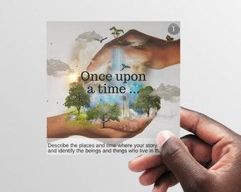Storytelling Arc visual prompt cards DIGITAL PDF for storytelling, based on the Hero's Journey PRINTABLE