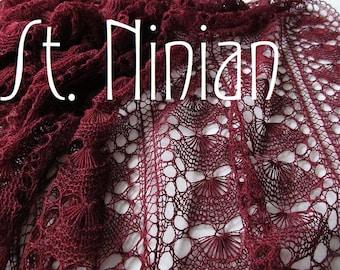 St. Ninian PDF Pattern Handknitted Lace Shawl